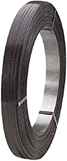 "Signode 085200 Apex Steel Strapping, 1/2"" Strap Width, 0.023"" Strap Thickness, 1300 lb. Average Strength, Painted and Waxed Finish, Black Color"