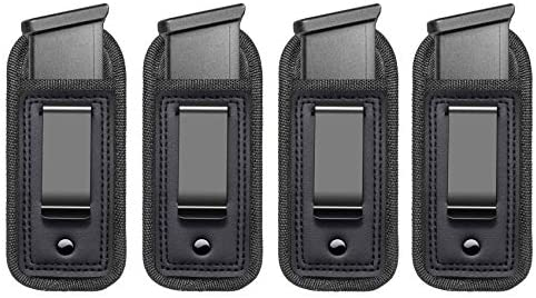 4 Pack Universal IWB Magazine Holster Concealed Carry 9mm 40 45 Inside The Waistband Mag Pouch product image