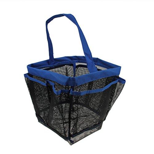 Tissu oxford fakeFace trousse sac de rangement en filet de salle de bain douche pour salle de bain hängeorganizer pochettes de voyage camping bleu
