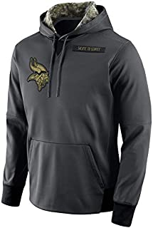 Dunbrooke Apparel Men's Minnesota Vikings Salute to Service Sideline Therma Pullover Hoodie