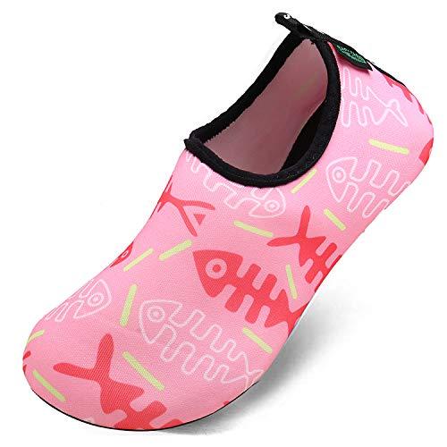 SAGUARO Wasserschuhe Mädchen rutschfeste Neoprenschuhe Barfußschuhe Badeschuhe für Schwimmbad...