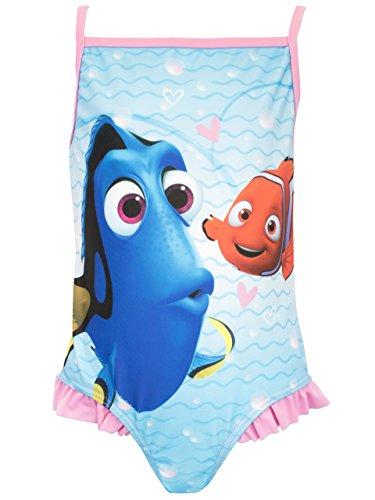 Disney Mädchen Findet Nemo Badeanzug, Mehrfarbig, 104 (Herstellergröße: 3 - 4 Jahre)