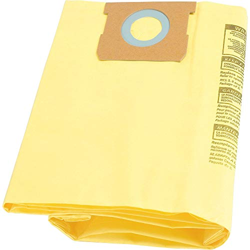 Shop-Vac 9067100 Genuine Type H 5-to-8-Gallon High-Efficiency Disposable Collection Filter Bag 2-Pack, Yellow Connecticut
