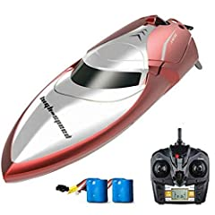 Skytech H100 2.4G 4CH Water Cooling High Speed RC Remote Control Simulation Racing Boat for Pools Lakes Outdoor Adventure Compact size and high speed 30km/h RC boat ready for you to have free sailing on water up to 150 meters control distance. The bo...