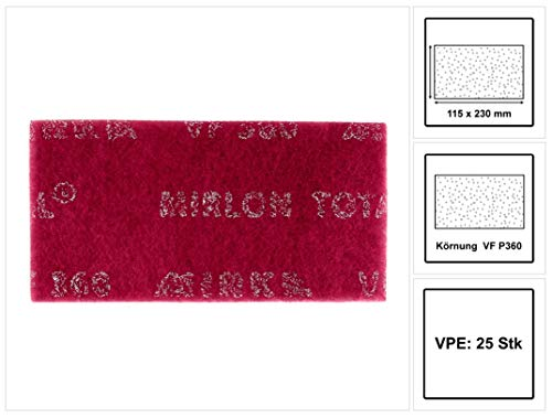 Mirka 2975000 8111202537 Mirlon Gesamt 115 x 230 mm vf rot 360