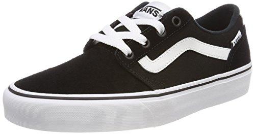 Vans Chapman Stripe, Sneaker Uomo, Nero (Suede/Canvas), 42.5 EU