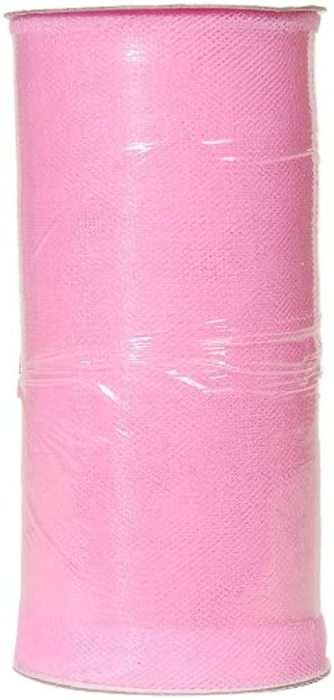 Darice 2913-31 6-Inch-by-25-Yard Tulle, Bright Pink