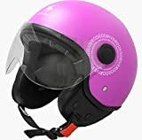 RODEO DRIVE RD104N PLUS casco scooter demi jet color, fuxia, small