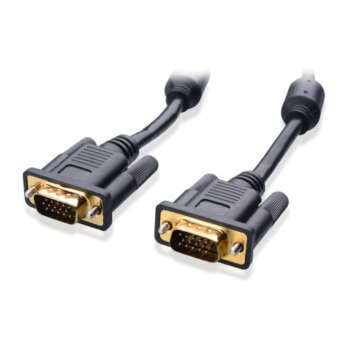 Cable Matters VGA to VGA Cable with Ferrites (SVGA Cable) 6 Feet