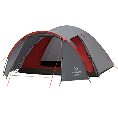 JUSTCAMP Carson 4 Man Dome Tent with Porch (345 x 245 x 135 cm)