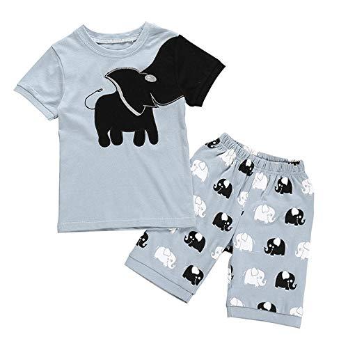 Kinder Jungen Mädchen Pyjamas Baumwolle Cartoon Gedruckt Tops Shorts Hosen Outfits Set Vetement Enfant Garcon Kid Kleidung Sommer