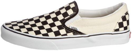 Vans Unisex Classic Slip-On (Checkerboard) Blk&whtchckerboard/Wht Skate Shoe 13 Men US