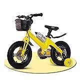 Bicicleta enérgica for Niños for Niños con Ruedas De Entrenamiento Y Freno De Mano De Doble Disco 2-3-4-5-6-7-8 Años 12 ″ 14 ″ 16 ″ 18 ″ ( Color : Yellow , Size : 16 Inch )