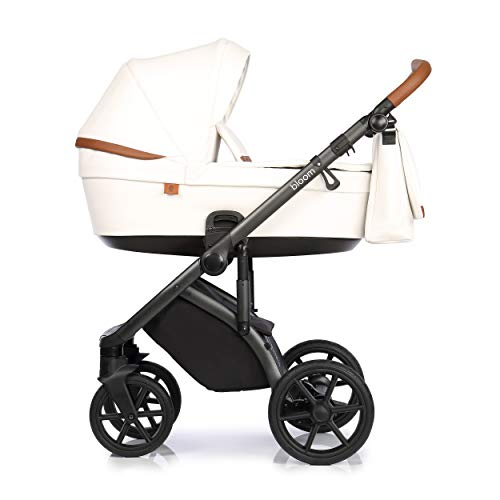 KOMBI KINDERWAGEN SET ROAN BLOOM BABYWAGEN BUGGY + ZUBEHÖR (White, 2in1)