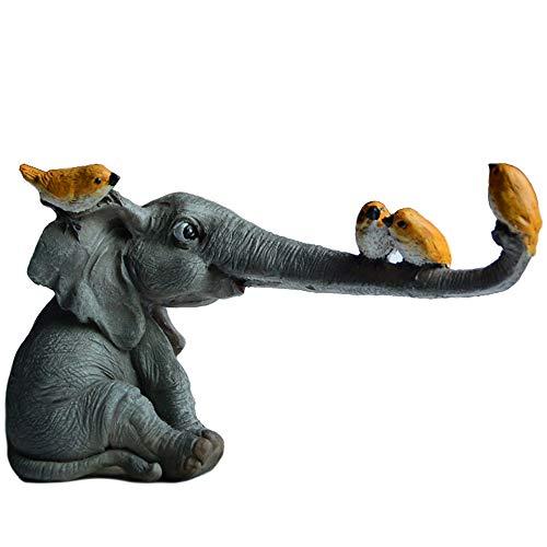 WJS Niedliche Tier Elefant Dekoration Moderne Weinkabinett Gartendekoration Öffnen Geschenk für Vater Weihnachten
