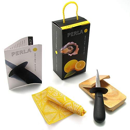 Set abridor de ostras - Cuchillo + Regalo Soporte de madera +...