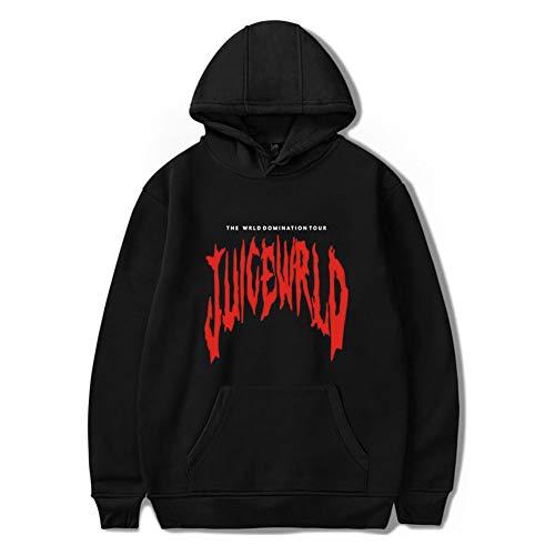 Juice Wrld Kapuzenpullover Unisex Sweatshirt Langarm Hip-hop Hoodie für Damen Herren Und Jungen Mädchen XXS-4XL (Schwarz B, M)