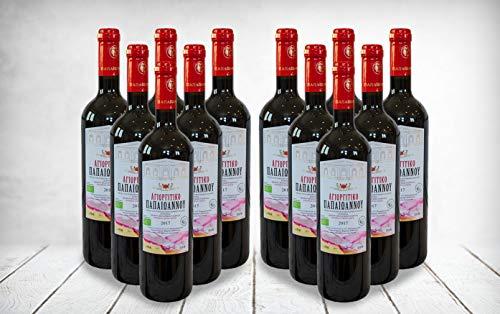 Vino Fino Griego, Estate Papaioannou Agioritko, Vino Tinto Orgánico, 100% Agiorgitiko, P.D.O Nemea Grecia 2014 (Caso Completo 12x750ml)