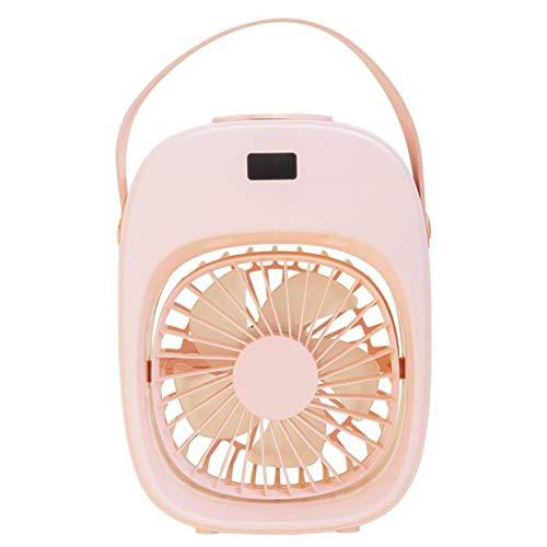 Milkvetch USB Ventilador de Aire Acondicionado PortáTil Aire Acondicionado Luz de Escritorio Ventilador de RefrigeracióN por Aire Humidificador Purificador para Oficina Hogar Rosado