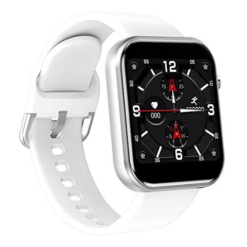 Nobrand QingDaoFuLongGuanHuangMuYeGongSi Smartwatch mit Blutdruck- und Herzfrequenz-Armband, Anruferinnerung, lange Standby-Uhr für Fitness und Sport, 0, weiß