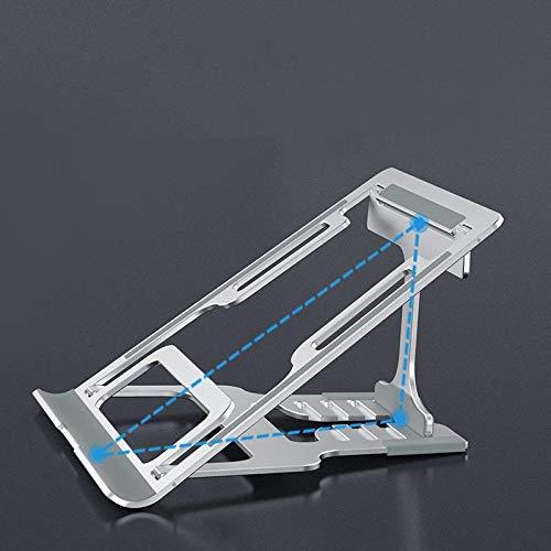 COOMOOC AdjustableLaptopStand, Laptop Stand, Portable Laptop Cooling Desk Holder, Adjustable Notebook Riser Mount-Gray