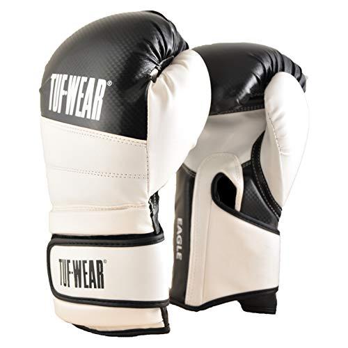 TUF WEAR Boxhandschuh Eagle Training Safety Spar Black White, schwarz/weiß, 453,6 g (16 oz)