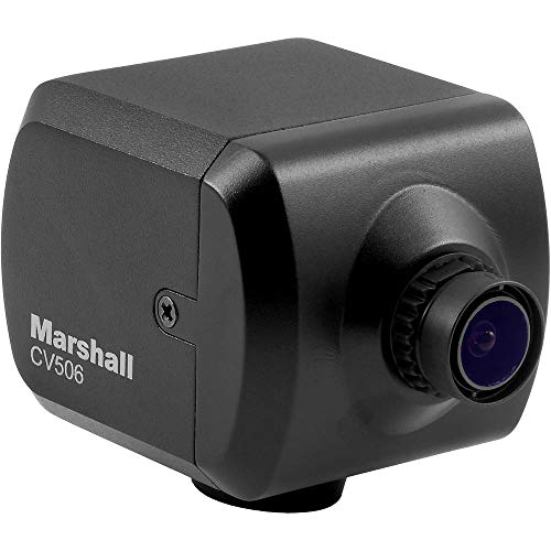 Marshall Electronics CV506 Full HD Miniature Camera with M12 Mount and Interchangeable 3.6mm Lens (72 AOV), 1920x1080p at 60 fps, 3G/HD-SDI & HDMI Output