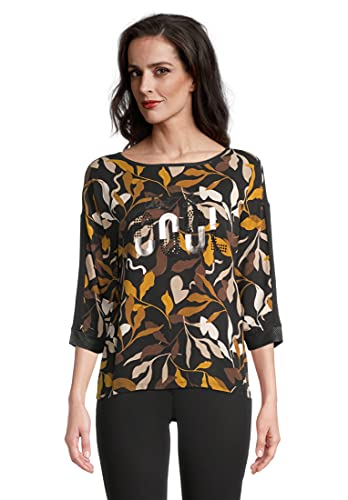 Betty Barclay 2061/2589 T-Shirt, Nero/Giallo, 52 Donna