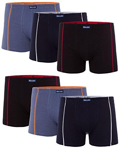 MioRalini 6 Herren Elastan -Baumwoll Boxershort, Modell: 6 STK Set 01, Größe: 2XL-8