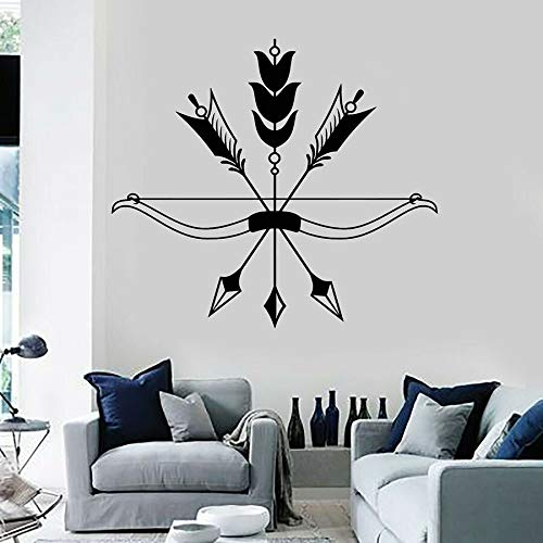 Arrow Bow Wall Decal Bird Feather Ethnic Style Bedroom Living Room Office Home Decoration Hunting Vinyl Wall Sticker Art Mural