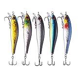 TUXIBIN Juego de 5 señuelos de pesca para agua de Topwater de 8,6 cm, 9,3 g, anzuelo giratorio para pesca de agua dulce y salada, carpas, lucios, TXB5-3