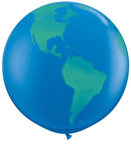 Folat 1 Paar Ballon Weltkugel 1 Meter Riesenballon Luftballon Erde Welt Globusballon