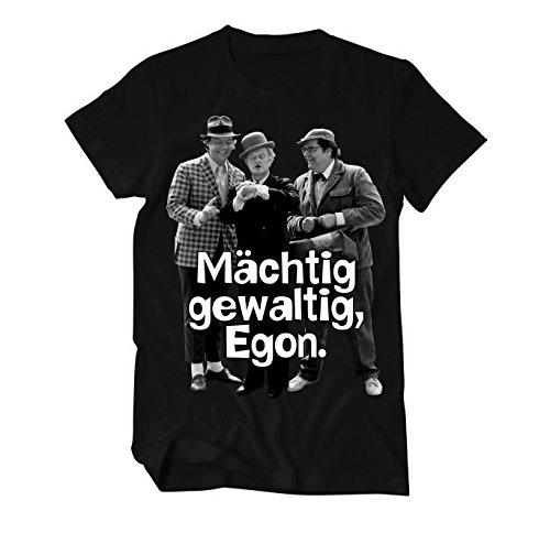 Mächtig gewaltig, Egon Olsenbande Fun T-Shirt Herren X-Large Schwarz