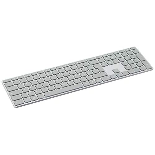 Microsoft WS2-00010 Surface Tastiera di Design, Layout Italiano QWERTY, Connessione Bluetooth, Platinum