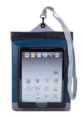 Travelon Multi-Purpose Floating Waterproof Pouch for iPad Tablet Smartphone Blue