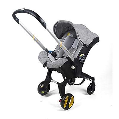 ZENGJIAWEI Cochecito 4 en 1 Baby Highland Mirror con Asiento de Coche Cochecito Plegable Cochecito de bebé Adecuado para recién Nacidos