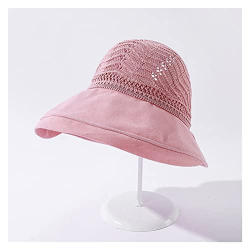 TangMengYun Sombrero para el Sol Sombreros de Verano para Las Mujeres Vacíe la Cubierta Solar al Aire Libre Sombrero Plegable del Sol con el Sombrero de la Playa del Arco Grande. Mujeres