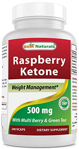 Best Naturals Raspberry Ketone with Green Tea, 500mg, 240 Veggie Capsule