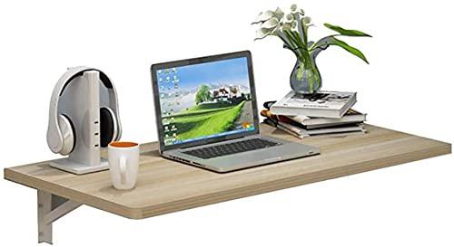 JeeKoudy Mesa Plegable para Montar en la Pared, Mesa de Trabajo Plegable, Mesa abatible, Escritorio de computadora, para Oficina en casa/lavadero/Bar en casa/Comedor de Cocina, 60x50cm