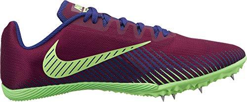 Nike Unisex-Erwachsene Zoom Rival M 9 Leichtathletikschuhe, Mehrfarbig (Bordeaux/Regency Purple/Lime Blast 600), 40 EU