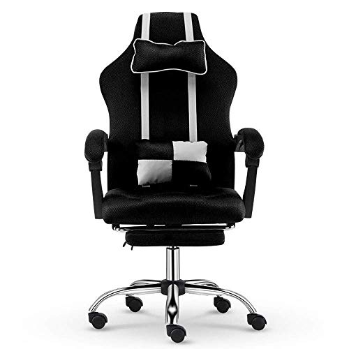 WSDSX Office Chairs Gaming Chair Computer Chair Ergonomic Gaming Chairs Adult with Footrest High Back with Lumbar Cushion