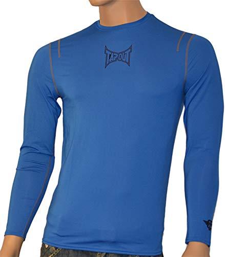 Tapout Pro Herren Langarm Kompression T-Shirt Combat in Blau, Größe:2XL, Farbe:Blautöne