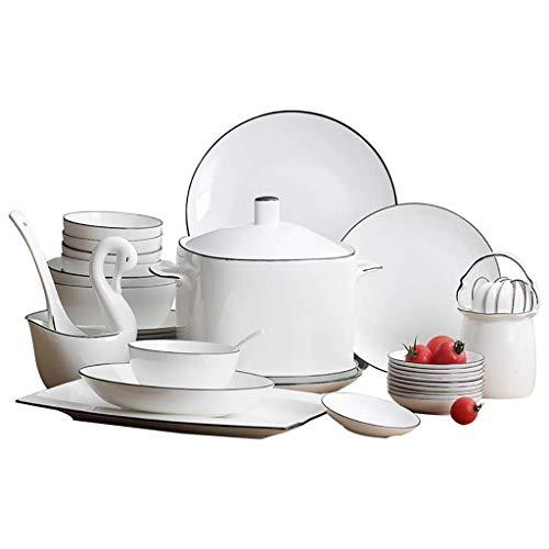 Xiao-bowl3 Conjuntos de vajilla de cerámica Japonés Diseño Simple Cuencos de cerámica Conjunto de vajilla para el hogar Juego de Cena Big Bowl