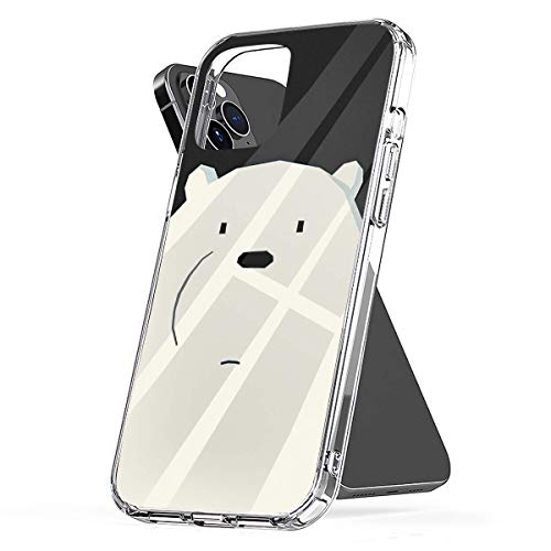 Phone Case We Bare Bears | Ice Bear Quote Ice Bear Enjoys Basking Compatible with iPhone 6 6s 7 8 X XS XR 11 Pro Max SE 2020 Samsung Galaxy Anti Bumper Scratch