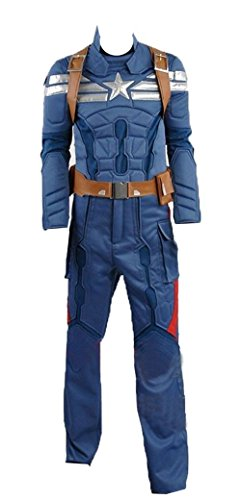 Captain America 2: Winter Soldier Steve Rogers azzurro version Cosplay costume