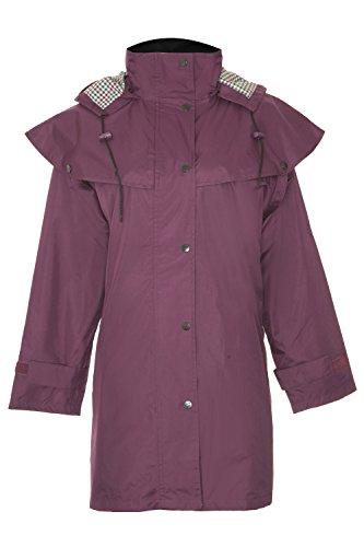 Champion Windsor Dreiviertellängige Wasserfesten Mantel mit Abnehmbare Kaputze für Damen (Violett) 38