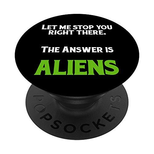Antiguo Alienígena Astronauta Teórico de la Conspiración PopSockets PopGrip: Agarre intercambiable para Teléfonos y Tabletas