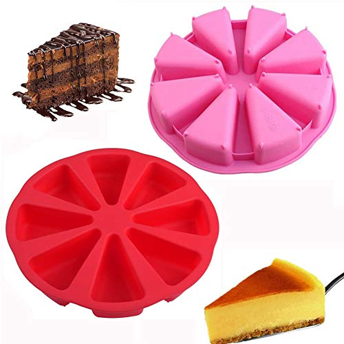 buenos comparativa Molde para pasteles triangular XYDZ, molde para pasteles redondo de silicona con 2 agujeros y 8 agujeros para pasteles,… y opiniones de 2021