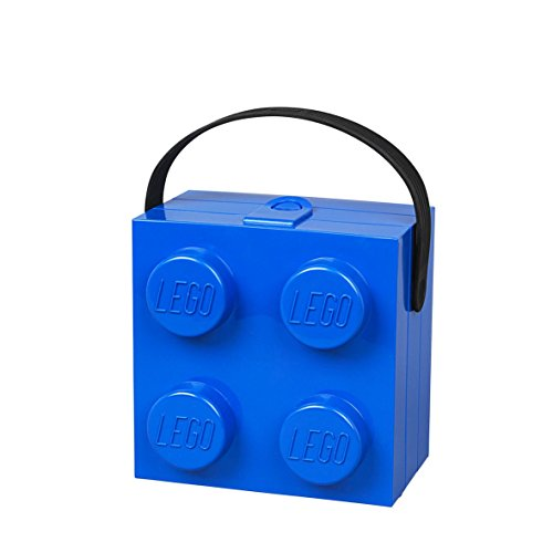 LEGO 40240602 Lunchbox with Handle, Bright Blue