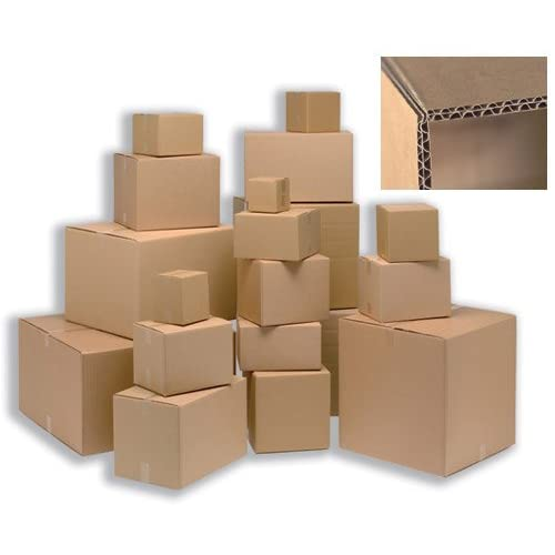 Ambassador 307701 Packing Carton Double Wall Strong Flat-packed 457x457x457mm Ref SC-63 [Pack of 15] - Brown